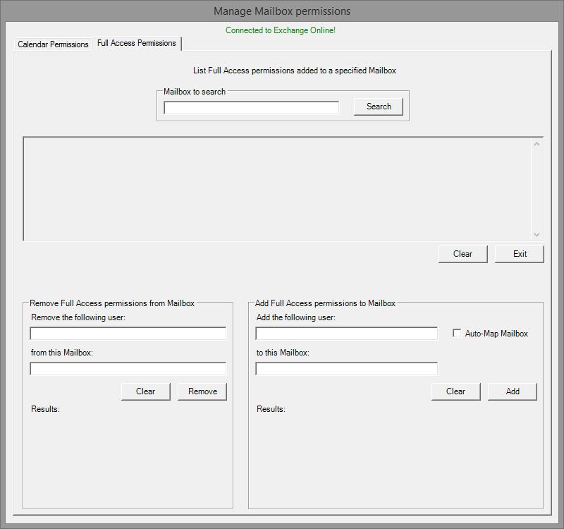 Office 365/Exchange Online Permissions GUI | Techmological