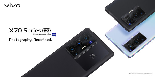 The vivo X70 series, co-engineered with ZEISS