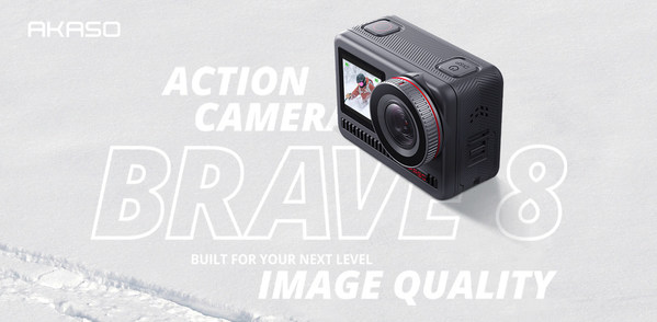 As a new product of AKASO's flagship action camera series -Brave series, in addition to the advantages of high cost performance, Brave 8 series action camera is the first time to use innovative technology and top performance in AKASO to impact on high-end action camera market directly such as GoPro and DJI. The Brave 8 series will bring an innovative and hardcore brand image to consumers around the world and deepen the AKASO brand impact.