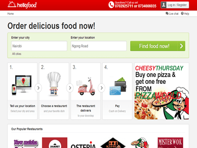 Revamped Hellofood site