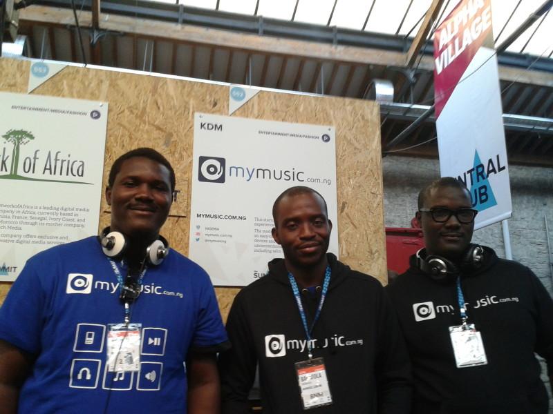 The trio at the Web Summit in Dublin