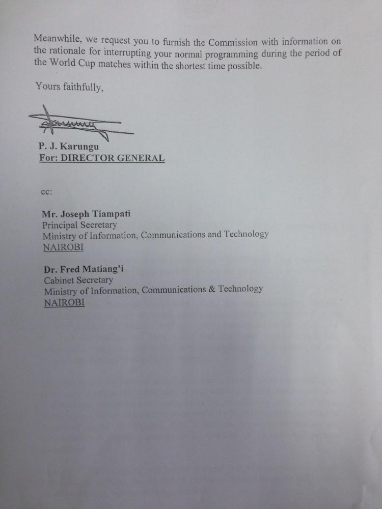 CCK letter to KBC-2