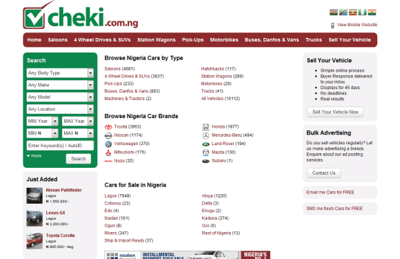 Nigeria's leading Car marketplace, Cheki.ng crosses 135,000 listings, expands services.