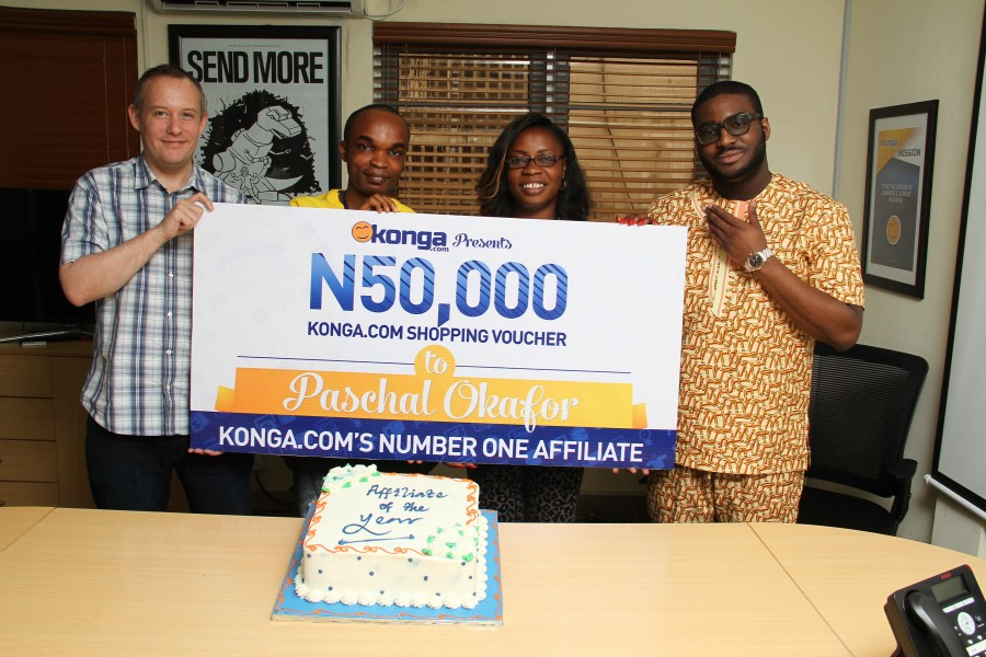First Konga Millionaire Affiliate receives his prize