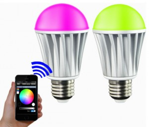 Wi-Fi enabled LED light bulbs
