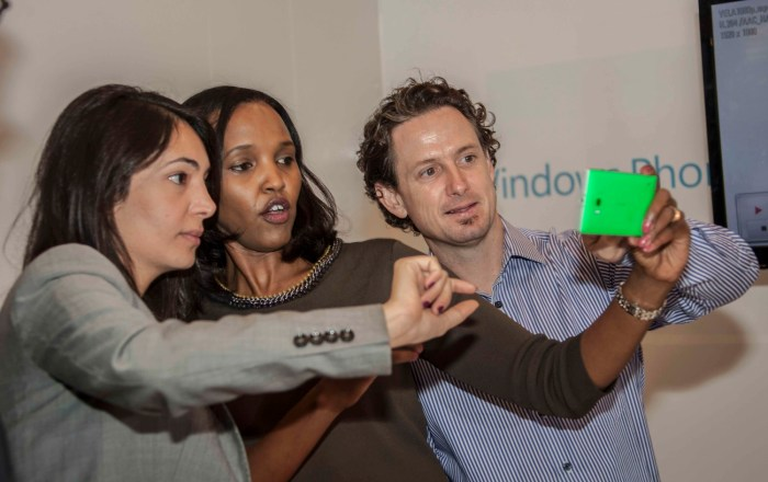 Microsoft Devices  Head of Product for Sub Saharan Africa Patrick Henchi takes a selfie with Jumia KE MD Parinaz Firozi