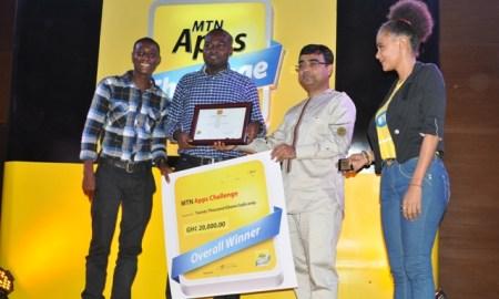 Nana Ekow Taylor, Elvis Agah Henkoppong receive their award as overal winners