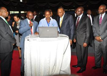 President during the launch of e-procurement  in August