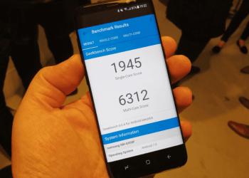 Samsung Galaxy S8; Exynos 8895 scores