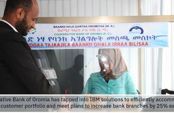 Ethiopian Bank leverages IBM's Cloud and Power Systems technology to address growing customer portfolio