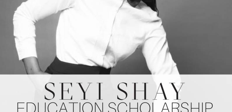 Music star, Seyi Shay launches website, partners ScholarX to begin scholarship initiative