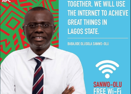 Free Wifi Service Launched in Surulere, Lagos by Governorship Elections candidate, BabaJide Sanwo-Olu