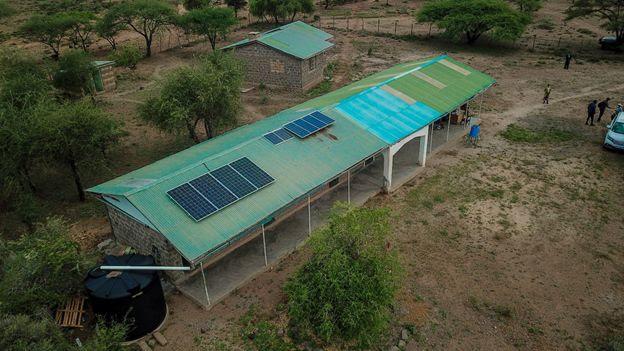 Solar PV Panels Installed on Singiraine Dispensary Roof