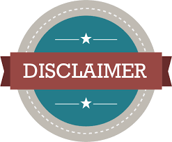 Our disclaimer