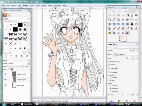 GIMP For Drawing Manga