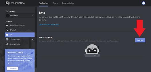 build a bot discord