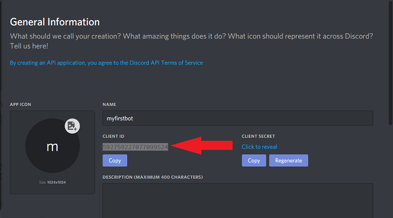 client id for discord bot