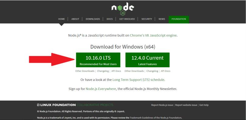 Downloading NodeJs for your Discord Bot
