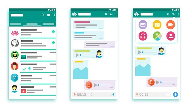 Android app interface