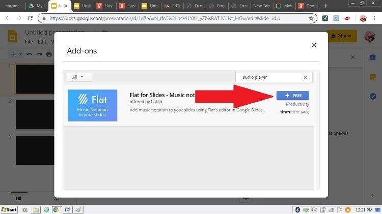 flats music addon google slides