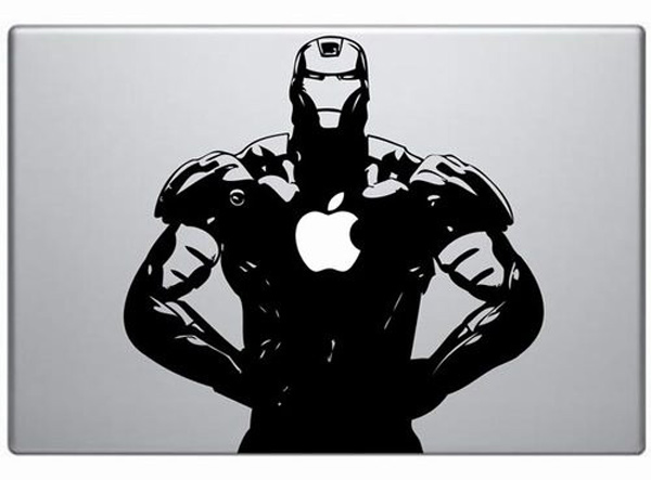 iron man decal vinyl custom macbook