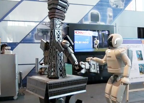 tsutenkaku honda asimo robot wars osaka japan