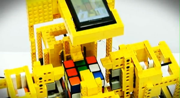 lego android rubik's cube solver robot automatic toys
