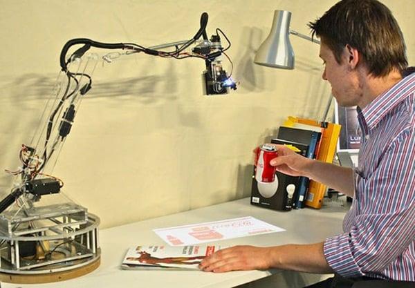 luminar mit robot pico-projector internet