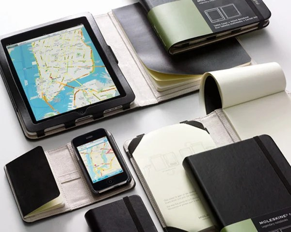 moleskine ipad iphone cover case notebook