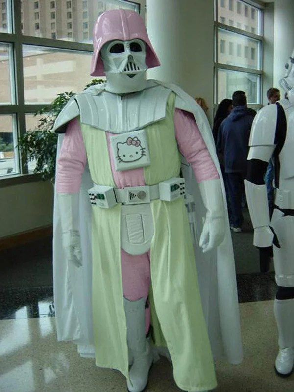 darth vader hello kitty white star wars costume