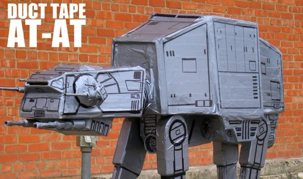 duct tape sharpie star wars at-at