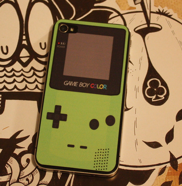 game boy color decal iphone 4 sticker apple