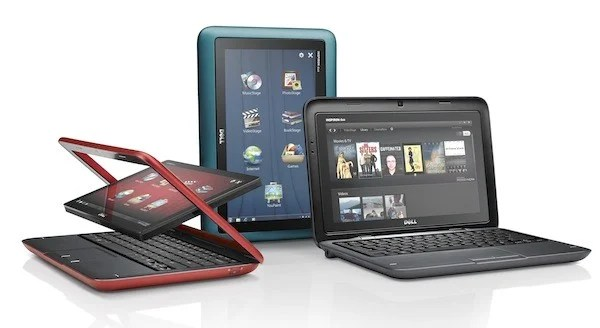 dell inspiron convertible tablet netbook computer duo