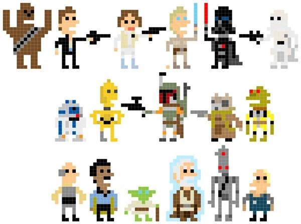 and rash star wars pixel art characters