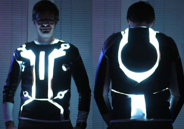 diy tron suit instructable legacy led