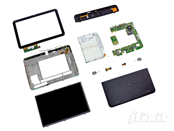 ifixit teardown tear gadget motorola tablet xoom