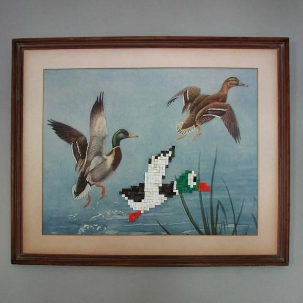 retro dpad etsy duck hunt nes nintendo mega man art pixel