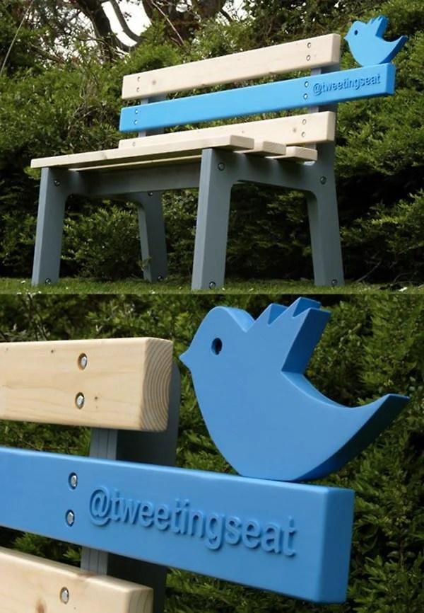 tweetingseat christopher mcnicholl twitter tweets bench tech interactive