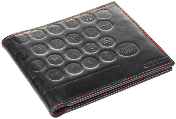 geek fashion wallet leather qwerty