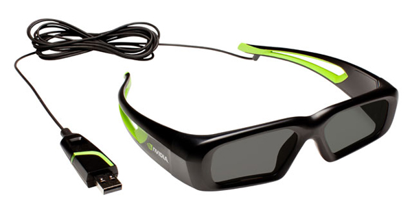 nvidia vison 3d glasses usb wired cable hdtv pc