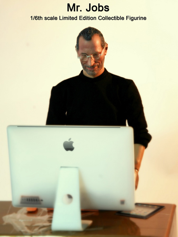 steve jobs figurine collectible toy 1/6 scale 12-inch apple