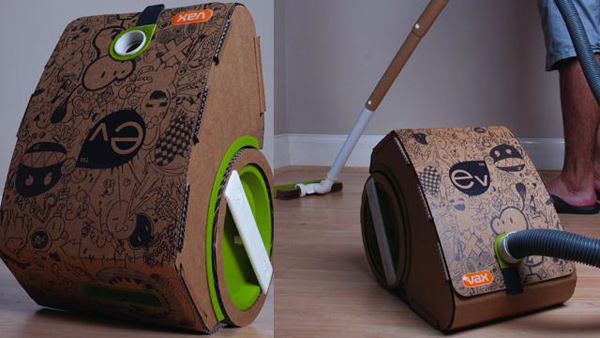 vacuum cleaner cardboard ev vax jake tyler green