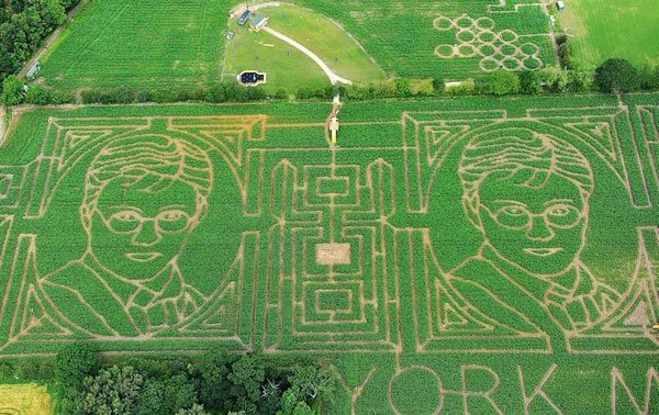 harry potter tribute deathly hallows top pearsy maize maze
