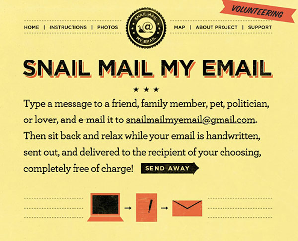 snail mail email snailmailbyemail website service free