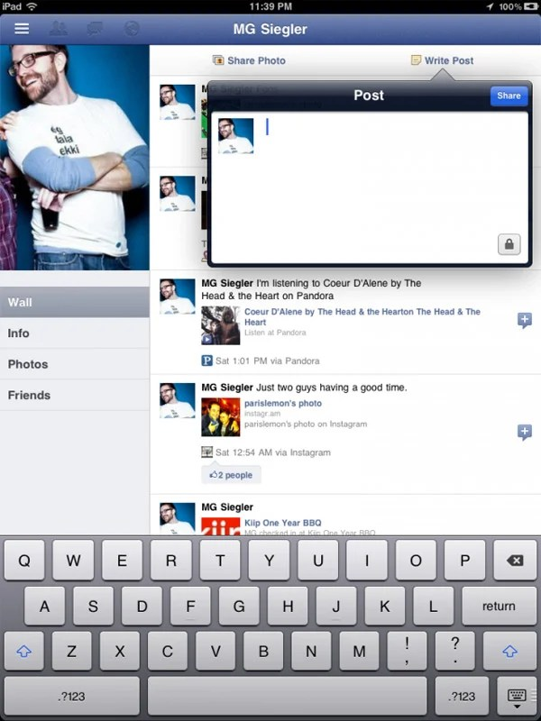 facebook iphone ipad app hidden code