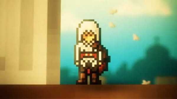 assassin's creed 8-bit video game animation 2d retro