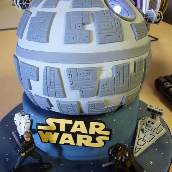 death star wars cake luke darth vader rachel linhart