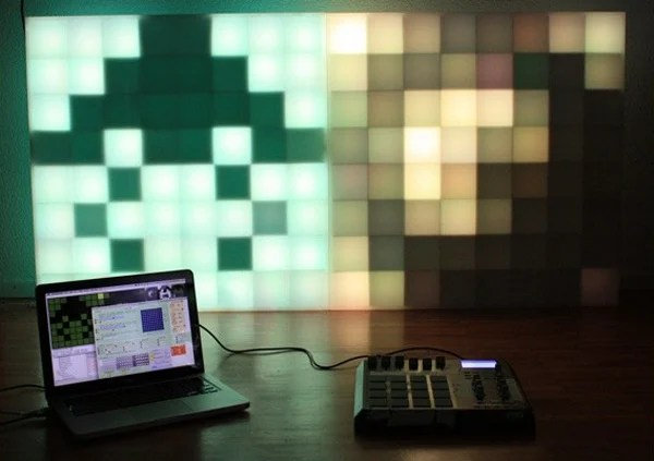michu pixelinvaders pixelcontrollers led matrix panel display
