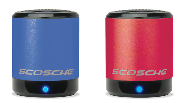scosche boomcan speaker portable media laptop netbook tablet