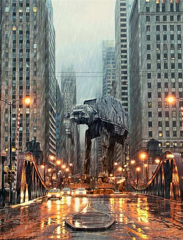 tony bamber at-at art design star wars imperial walker chicago